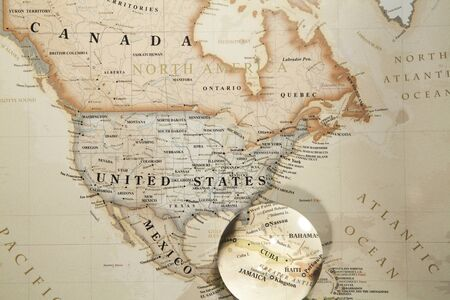 Glass ball placed on a world map stock photo picture and royalty glass ball placed on a world map gumiabroncs Images
