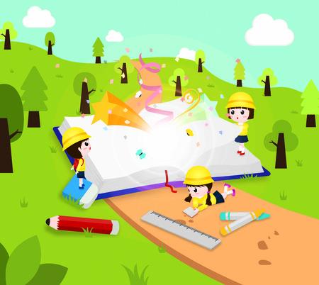 Preschool(Korea) - vector Illustration