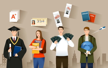 Candidate selection vector illustration