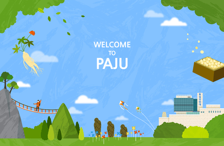 Vector illustration of Paju