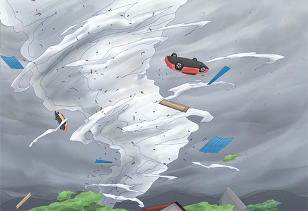tornadoes: Tornado Awareness Vector Illustration