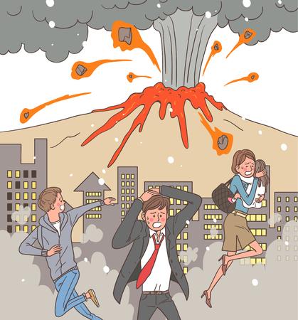 Catastrophe naturelle sensibilisation Illustration Vecteur