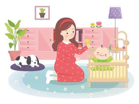 planificacion familiar: Family Planning Vector Illustration
