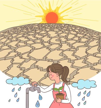 Natural Disaster Awareness Vector Illustration