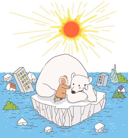 Natuurramp Awareness Vector Illustration Stock Illustratie