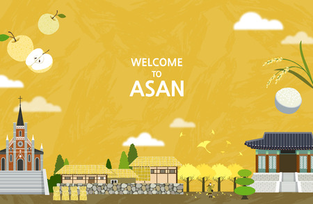 Vector illustration of Asan
