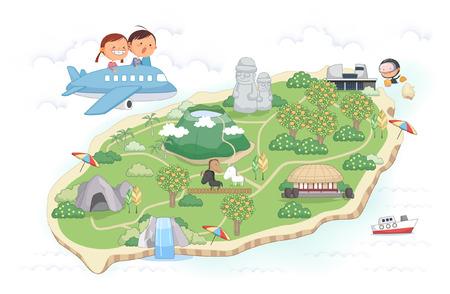 Jeju Promotion Vector Illustration