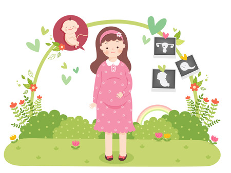 Family Planning Vector Illustration
