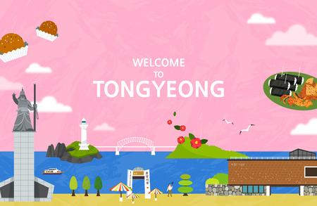 Vector illustration of Tongyeong