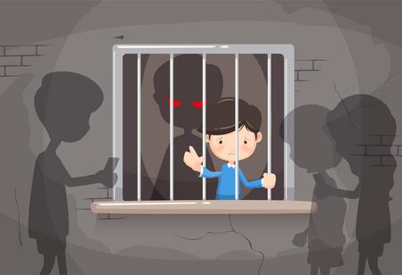 Illustrazione vettoriale consapevolezza violenza domestica
