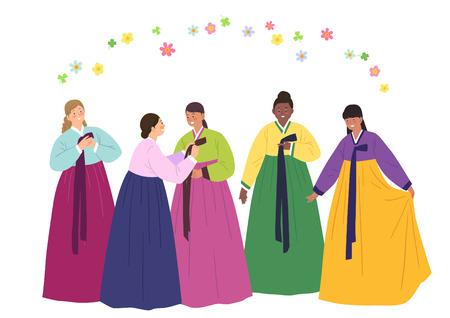hanbok: Volunteers Illustrations