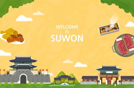 Vector illustration of Suwon