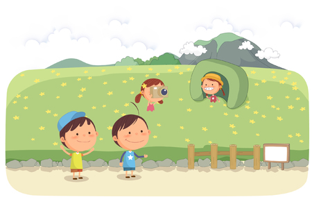 excursions: Jeju Promotion Vector Illustration
