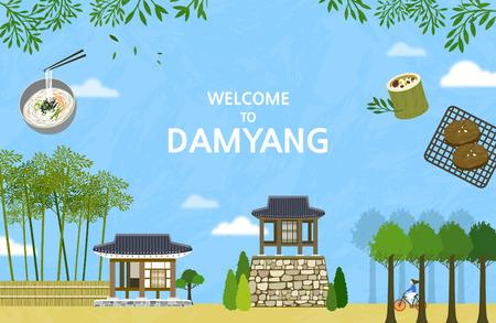 Vector illustration of Damyang