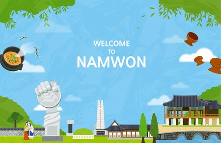 Korean Landmark - Vector Ilustração