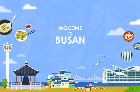 Korean Landmark - Vector Illustration