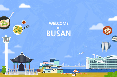 Korean Landmark - Vector Illustration