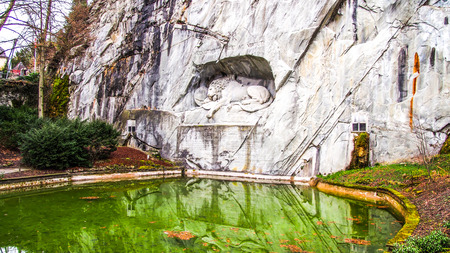 stone lion: Europe Trip- Lion Monument Of Lucerne, Switzerland