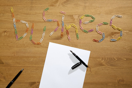 spelled: Business Spelled Out With Paper Clips