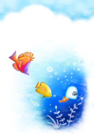 Season Themed Illustration Stock Photo