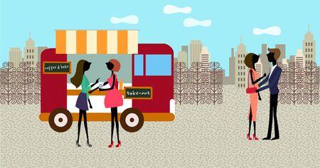 city life: City Life Illustration