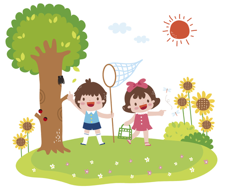 Illustration Of Children Playing Stock Photo