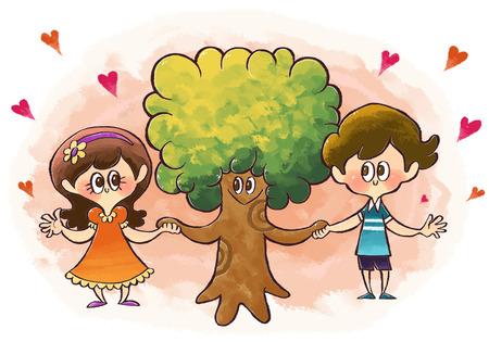 Environmental Care Illustration Stock Photo