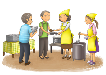 Social Services Illustration Stok Fotoğraf