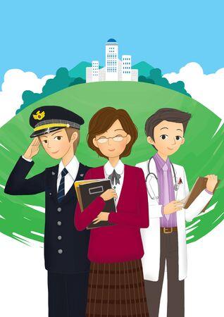 Social Services Illustration Stock Photo