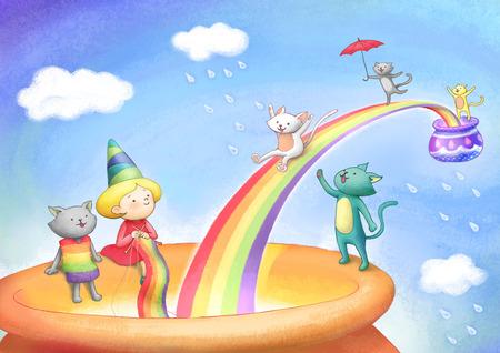 dreamland: Imagination Dreamland Illustration Stock Photo