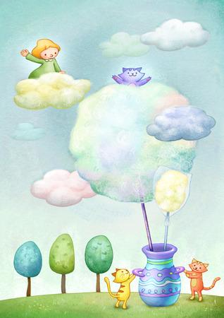 Imagination Dreamland Illustration Stock Photo