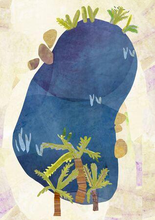 oasis: Rural Landscape Illustration