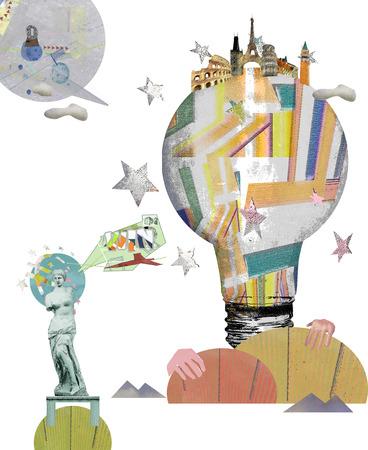 Bright Idea Illustration Stock Photo