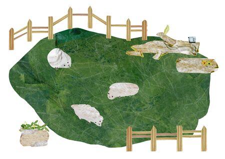 storybook: Rural Landscape Illustration