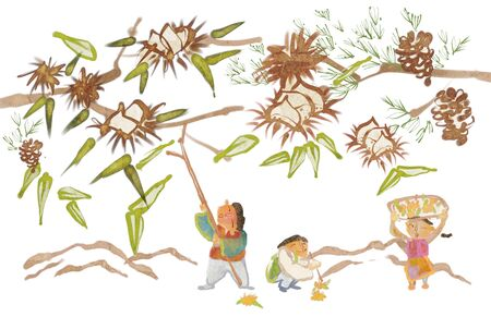 storybook: Traditional Korean Lifestyle Illustration