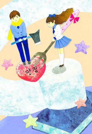 Teenage Lifestyle Illustration Stock Photo
