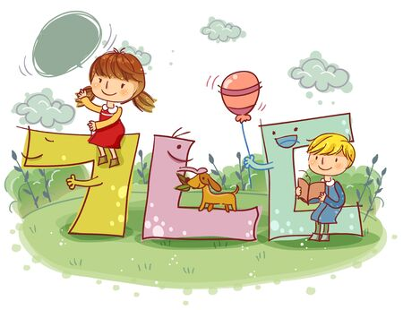 convivencia escolar: Education, School Life, Korean Language Illustration
