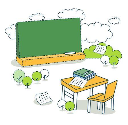 onderwijs: Education Illustration Stockfoto