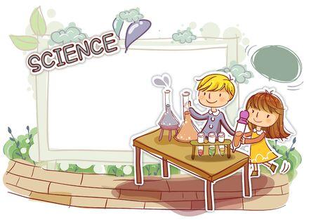 examiner: Education, School Life, Science Illustration