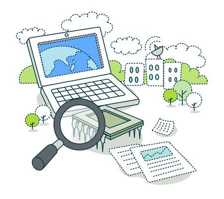 Informationsgesellschaft Illustration