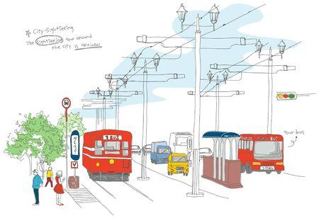 telephone pole: Traveling Illustration