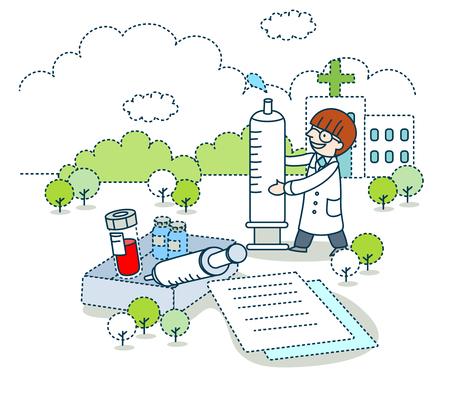 examiner: Medical Illustration Stock Photo