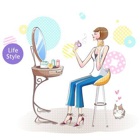 Womans Lifestyle Illustration
