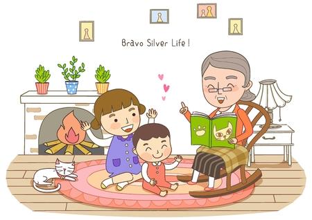 Middle-Aged Couple's Life Illustration Stock Photo