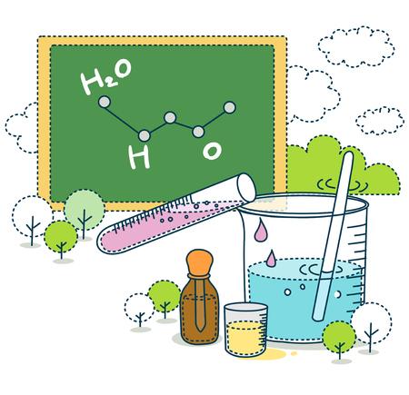 examiner: Science Education Illustration