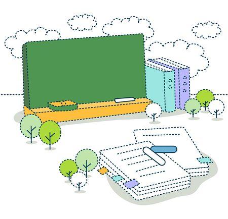 onderwijs: Onderwijs Illustratie Stockfoto