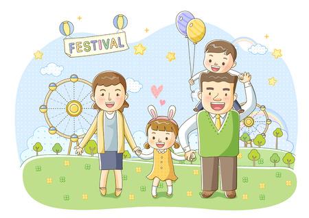 Family Life Illustration Stock Photo