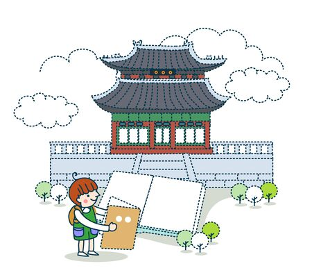 Landmark, Tourism Illustration