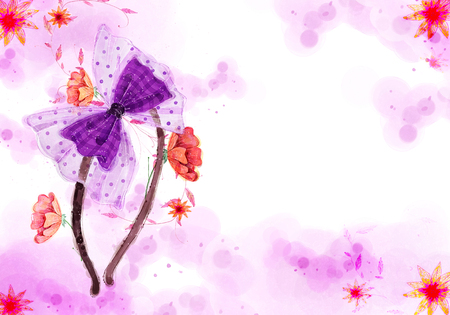 hairband: Abstract Flowers Background, Hairband Illustration
