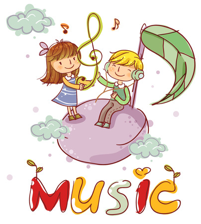 convivencia escolar: Education, School Life, Music Illustration